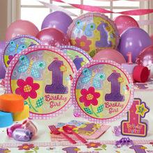 女宝宝生日快乐场景布置 1周岁粉色花朵套?#25237;?#31461;主题派?#21592;?#26223;装饰
