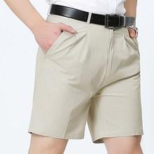 休闲3分四分中年修身中老年男西装潮夏天薄款4分短裤韩版三分夏裤