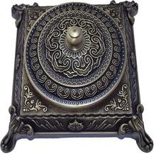 全铜复古烟灰缸 办公桌家用客厅方烟灰缸 精美烟灰缸黄铜工艺品