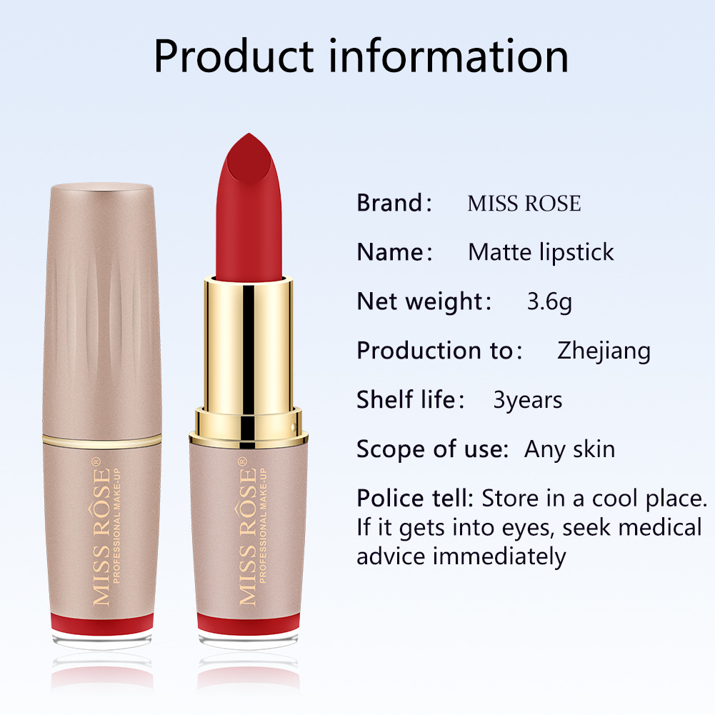 Four-color matte lipstick brick gold tube lipstick is not easy to bleach lipstick #27 2