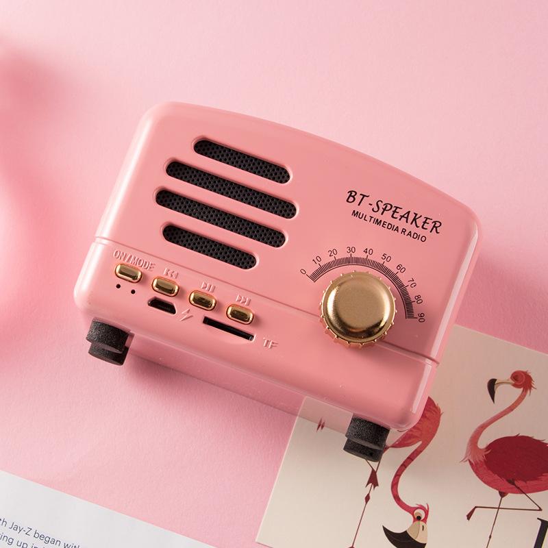 Retro bluetooth small speaker new mini c...