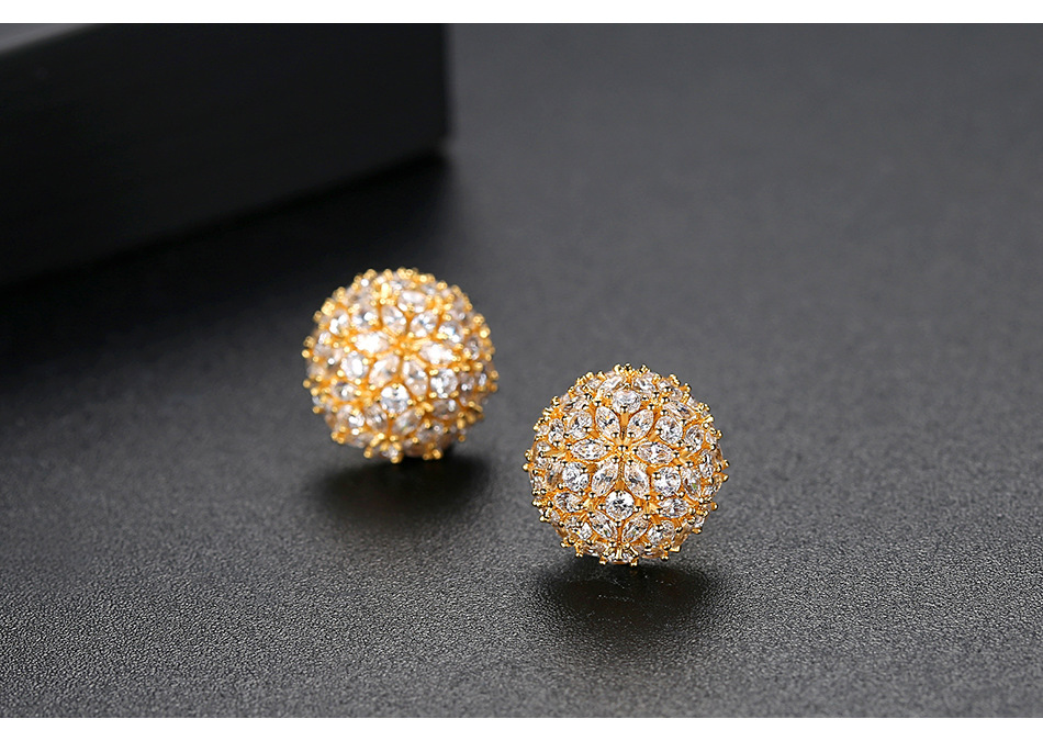 Alloy Korea Flowers earring  (Platinum-T02A19)  Fashion Jewelry NHTM0669-Platinum-T02A19