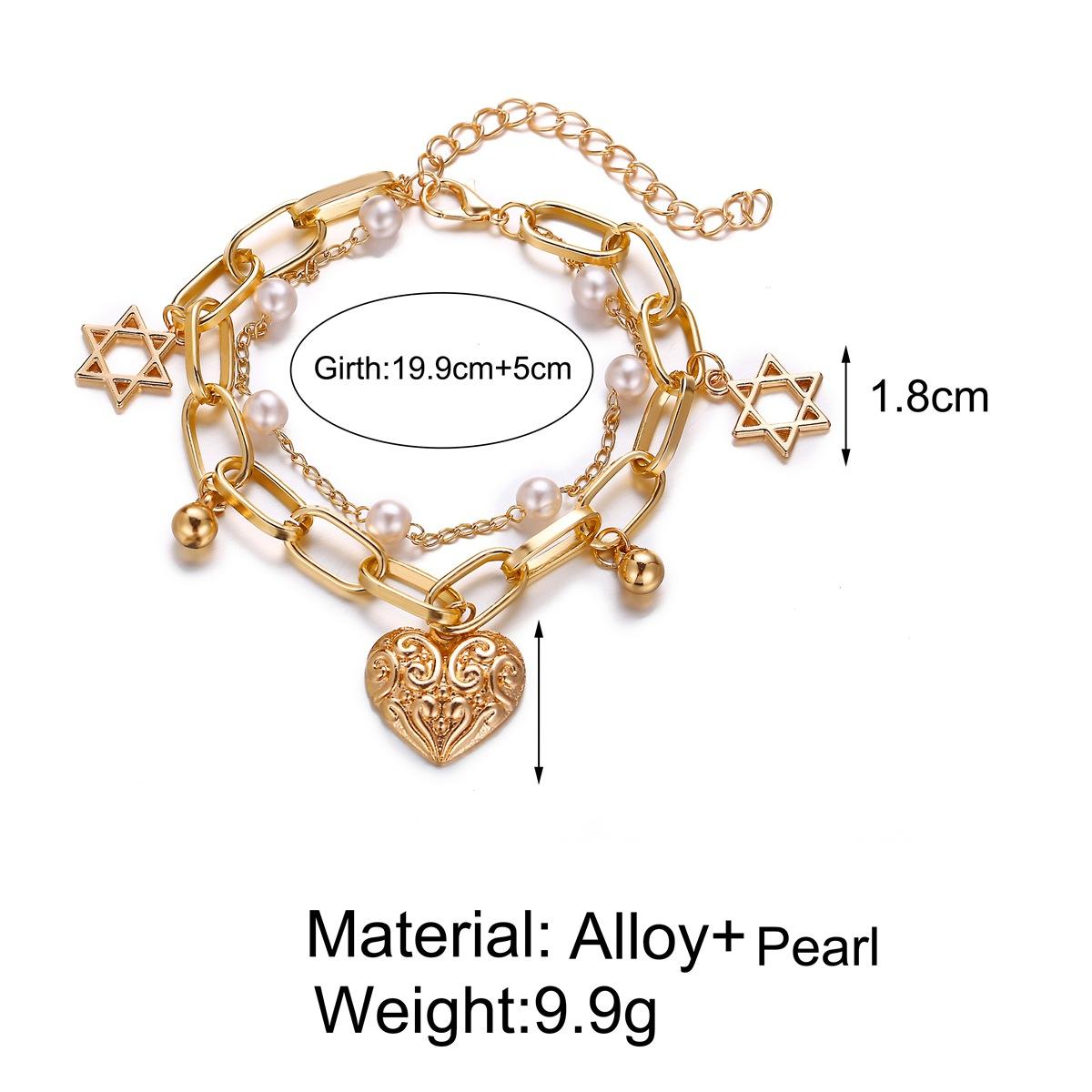 Creative retro simple big style wind beads love double bracelet NHPJ147972