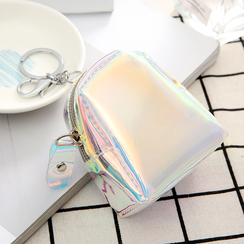 hotselling laser mini key ring headset video storage coin purse wallet wholesale NHAE249084