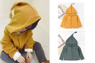 2019 spring and autumn men's and women's children's clothing explosive fashion cotton and linen jacket cute magic hooded cardigan jacket