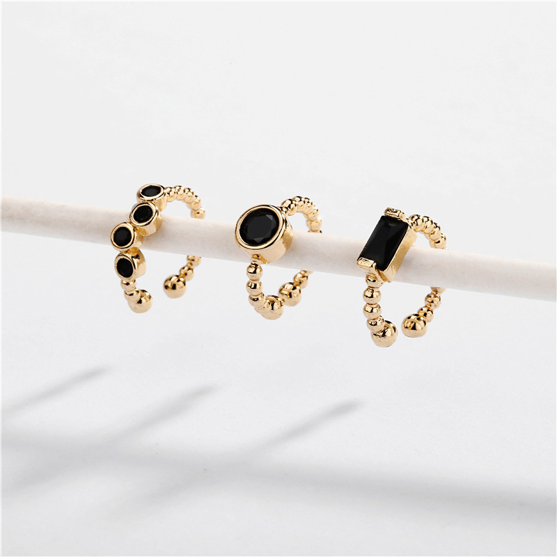 Jewelry earrings copper fittings opening adjustable can open three sets of ear clips NHLU177632