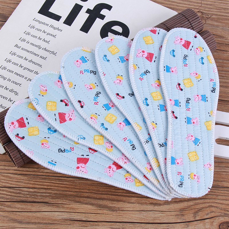 Manufactor wholesale children pure cotton Sweat ventilation Cartoon Insole Cotton cloth Deodorant Healthy comfortable spring and autumn baby Insole