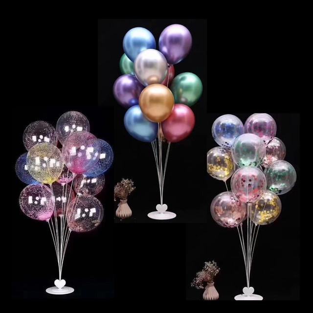 气球桌飘支架落地气球拼接地飘展示支架生日派对婚庆场景布置装饰