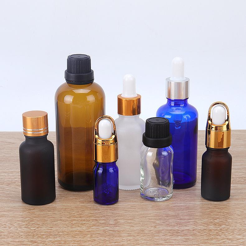 厂家批发精油瓶茶色避光精华液瓶定制便携喷雾洗手液小喷瓶精油瓶