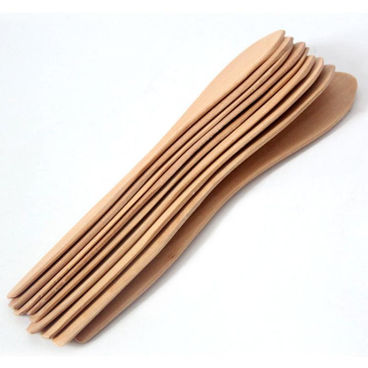 何适家居-天然实木面膜棒 饺子馅勺 奶油刀 支持LOGO定制厂家直销