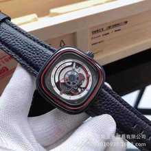 7七个星期五男士多功能方形手表NFC一件代发真皮带全自动机械石英