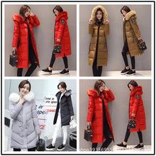 新款冬裝女裝羽絨服 中長款大碼女士棉襖 韓版修身加厚棉衣外套潮