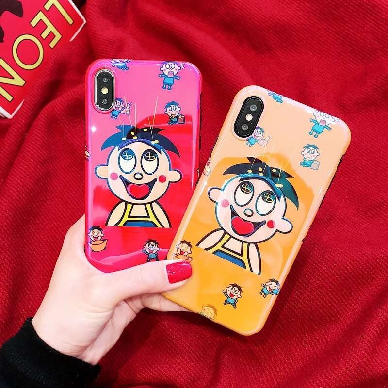 Cute Wang Tsai for iPhonexs mobile phone case for 7plus silicone apple 8x6s female models anti-fall soft shell