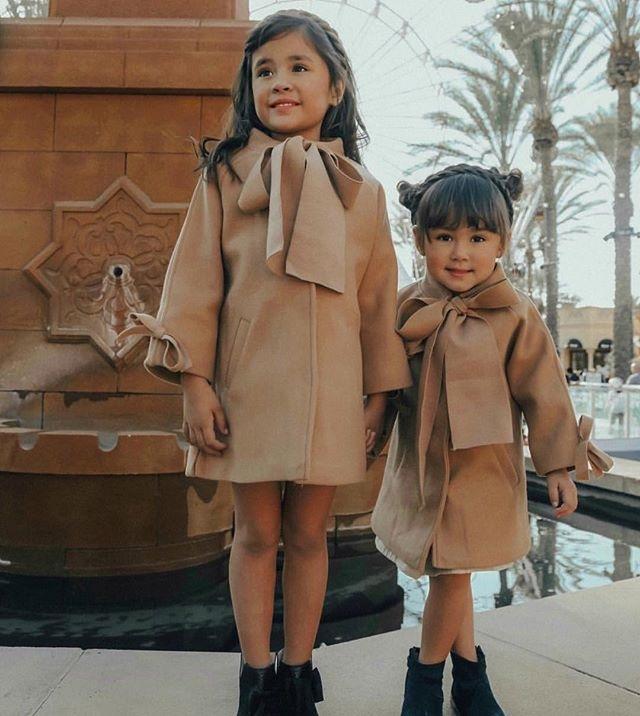 女童装时尚呢外套2019冬季新款呢大衣长袖洋气中长款呢子外套