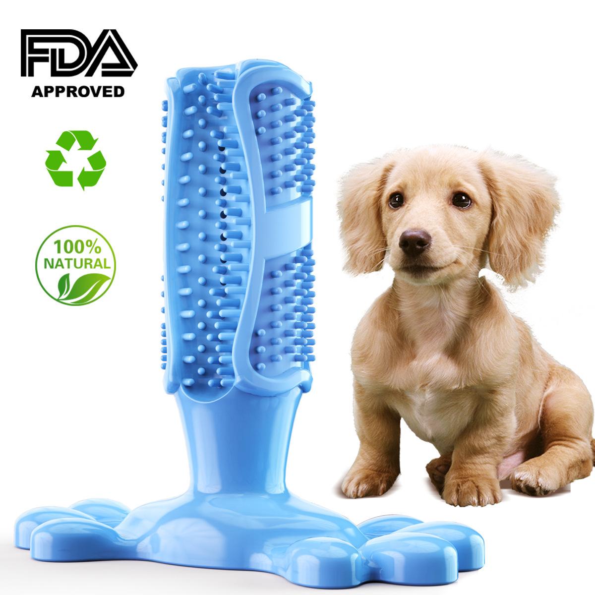 宠物用品亚马逊爆款狗狗磨牙棒 塑胶狗牙刷 宠物牙刷棒耐咬玩具