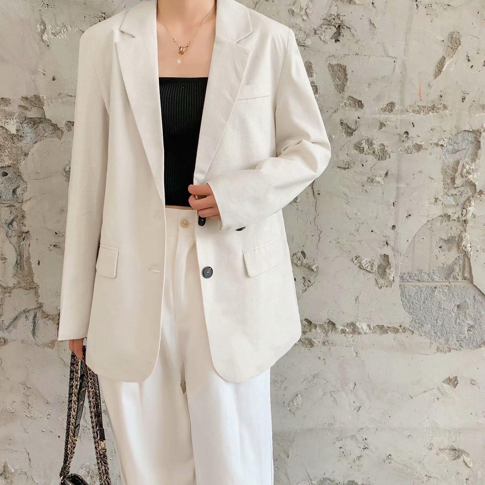 Wholesale buttoned casual blazer NHAM179956