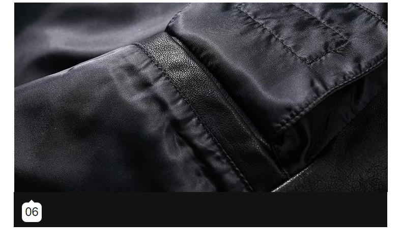 真皮歐潮輕奢時尚秋季休閑潮牌男新式PU皮衣NY刺繡新修身立領皮夾克外套男dn