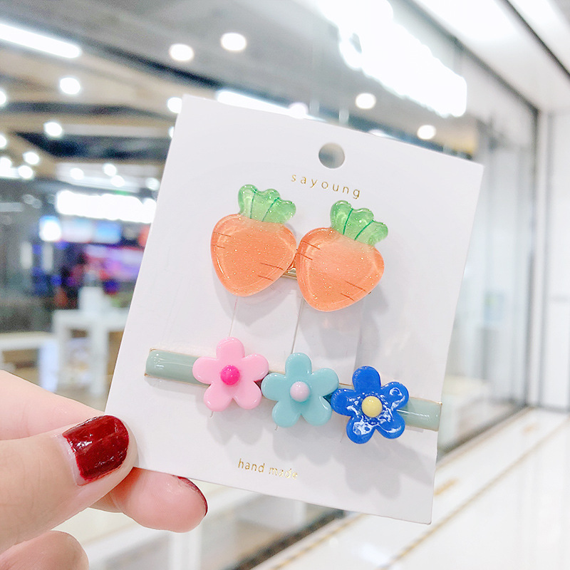 New fashion fruit side clip color cheap flower hairpin wholesale NHNA207476
