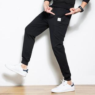 哈伦潮流小脚裤2019新款春秋季男装学生韩版时尚运动休闲纯棉长裤