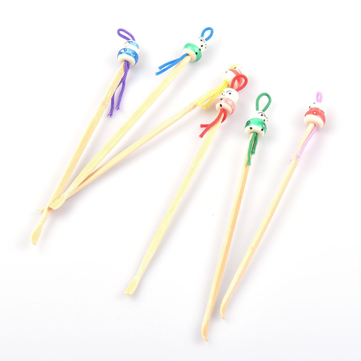 天然竹质耳勺 挖耳勺 耳挖 卡通版木质中国娃娃掏耳勺 1g