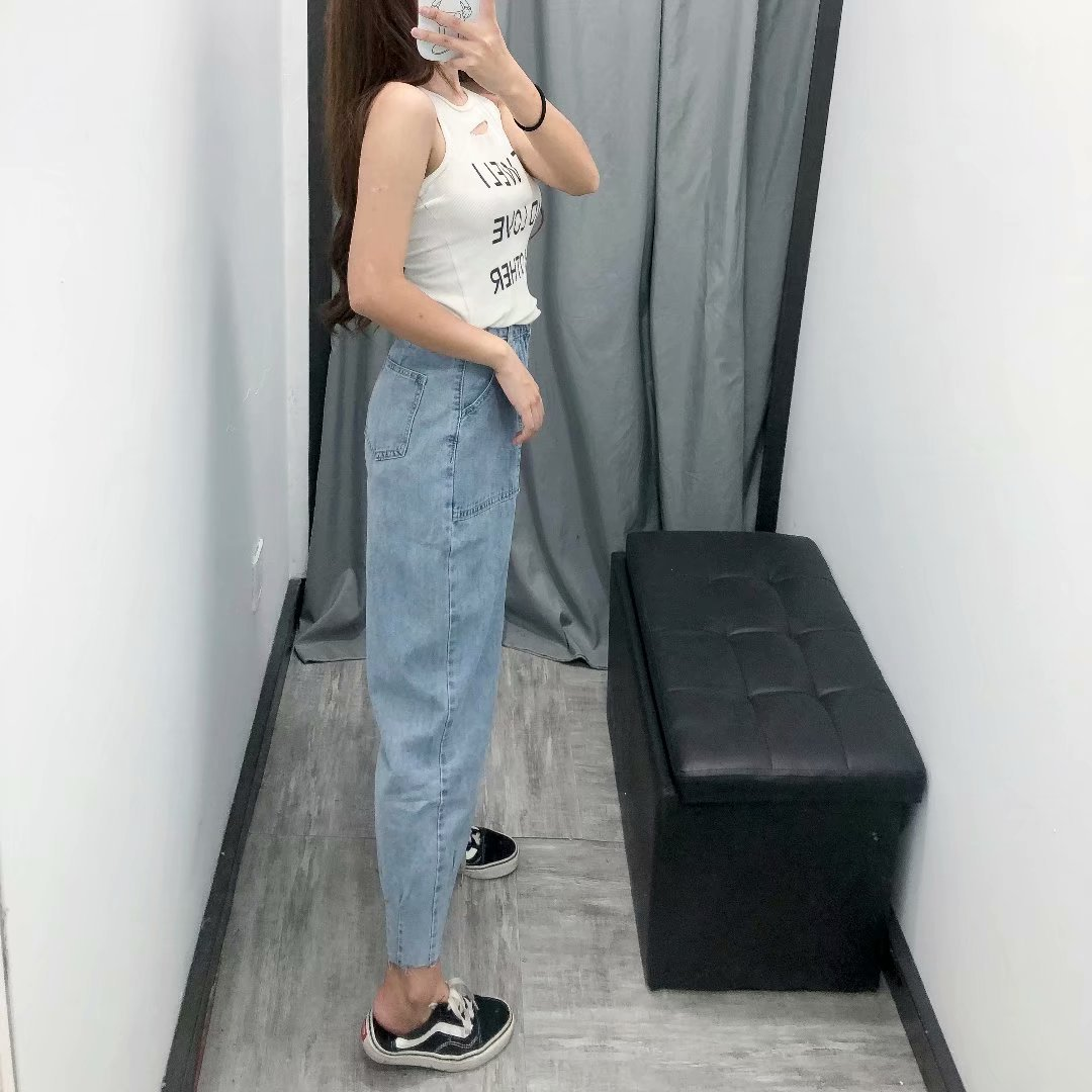 Wholesale New Jeans Women's High Waist Loose Pants Pants Harem Pants Women NHAM186173