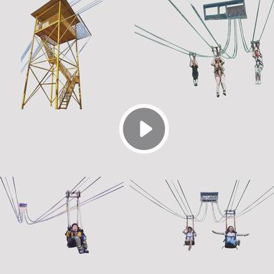 滑索 无动力设备 景区设备 大型户外设备 游乐设备厂家直销2019