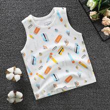 兒童純棉背心男女童夏季新款韓版精梳棉無縫0-5歲打底衫外貿新款