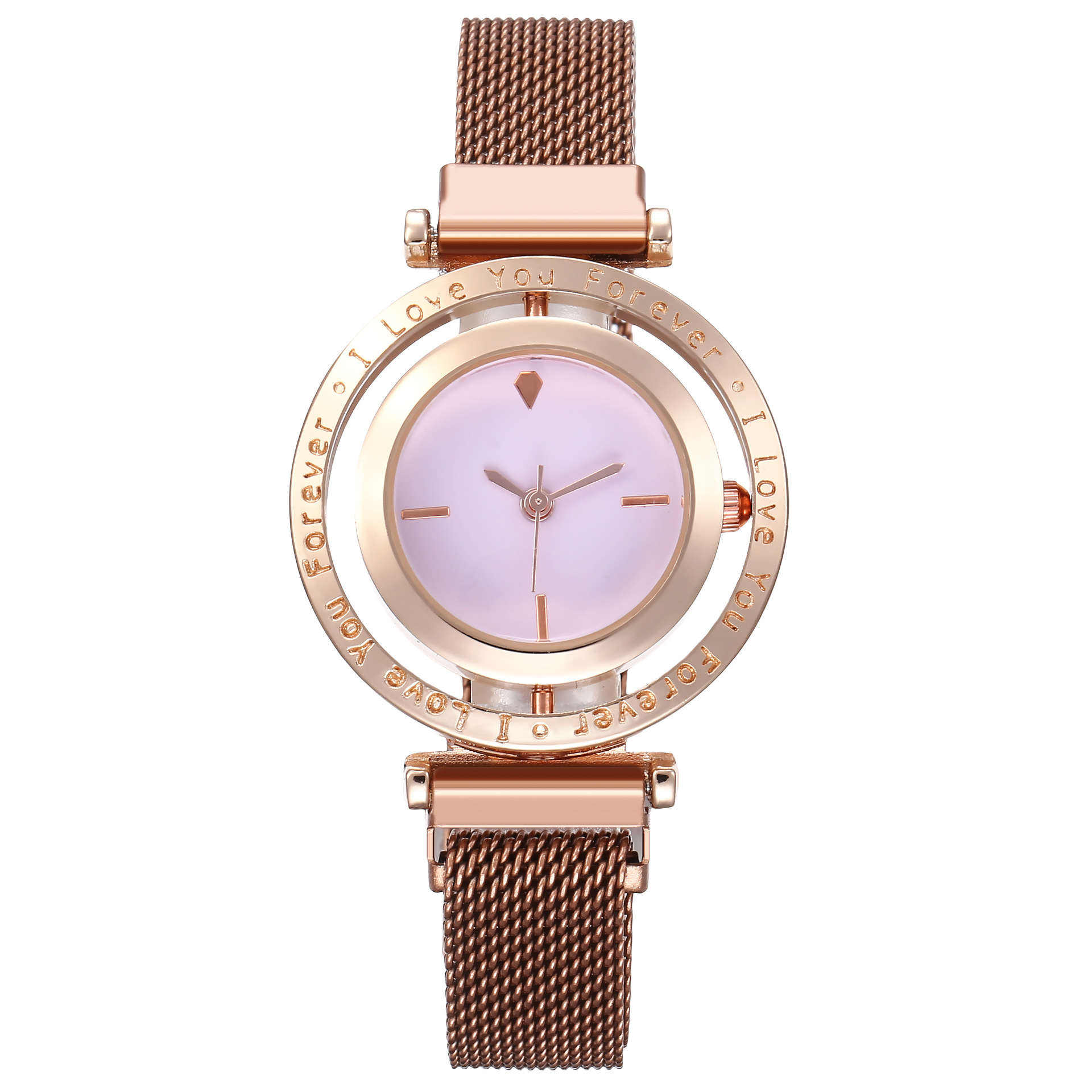 Scale rotating head magnet buckle Milan with alloy watch female models wholesales fashion  NHHK178355