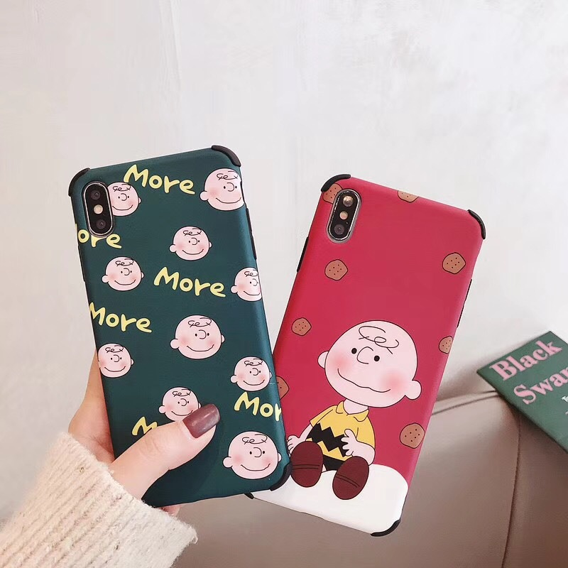 Korean Cartoon Crayon Shinchan Applicable iPhoneXS Max Mobile Shell Four Corners Anti-fall Apple 7p8 Cover