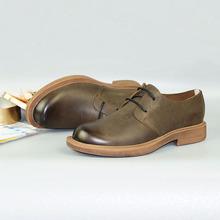 男鞋復古英倫風大頭皮鞋磨砂牛皮男士韓版工裝鞋商務休閑潮鞋秋季