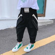 男童牛仔褲春秋新款兒童韓版褲子男孩寶寶洋氣長褲小童個性秋裝潮