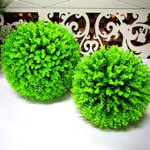 草球尤加利草球商场吊顶装饰花球景观装饰假花仿真花塑料花球批发