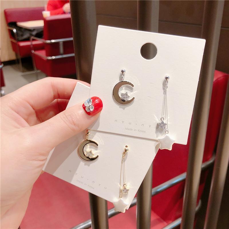 Alloy Korea Geometric earring  (Alloy moon beads)  Fashion Jewelry NHQG1537-Alloy-moon-beads