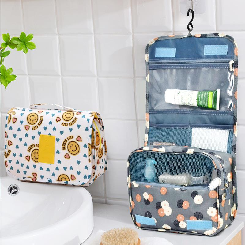 النسخة الكورية من حقيبة السفر متعددة الوظائف مع خطاف الغسيل لسهولة التخزين للرجال والنساء حقيبة سفر مضادة للماء حقيبة غسيل للسفر