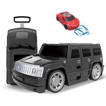 18寸兒童拉桿行李箱帶遙控創意汽車造型旅行箱橙/深藍/紅/綠/深灰