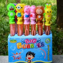 儿童卡通七彩泡泡棒新款吹泡泡水玩具地摊广场夜市户外玩具批发