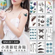 小清新纹身贴 韩国热卖套餐原宿风?#20449;?#25991;身贴 纹身贴纸 WM001-040