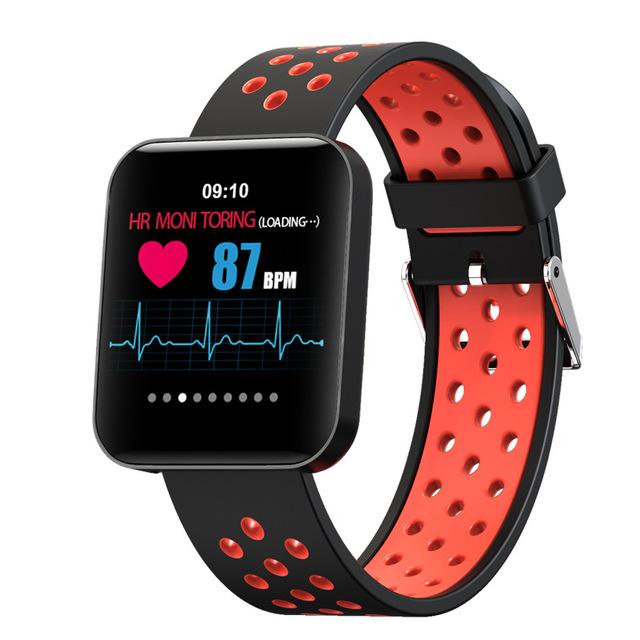S88彩屏智能手环 信息推送远程拍照多种运动模式切换心率血压监测