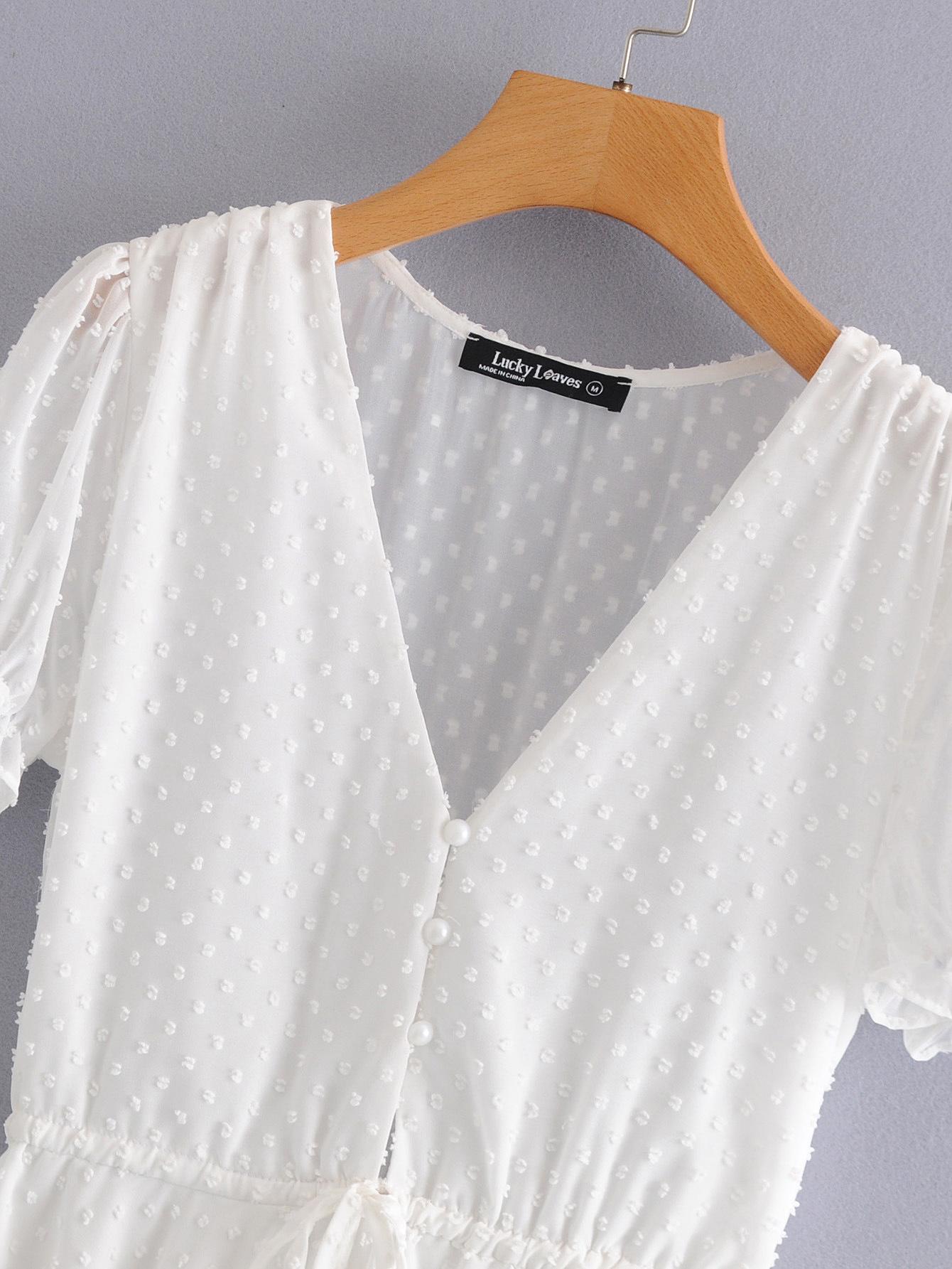 Polyester Fashionskirt(White-S) NHDS0689-White-S
