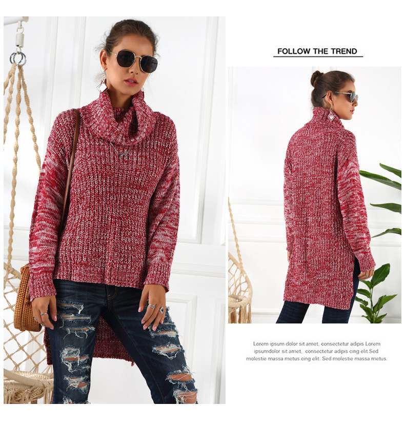 new high neck long-sleeved sweater NSYH9742