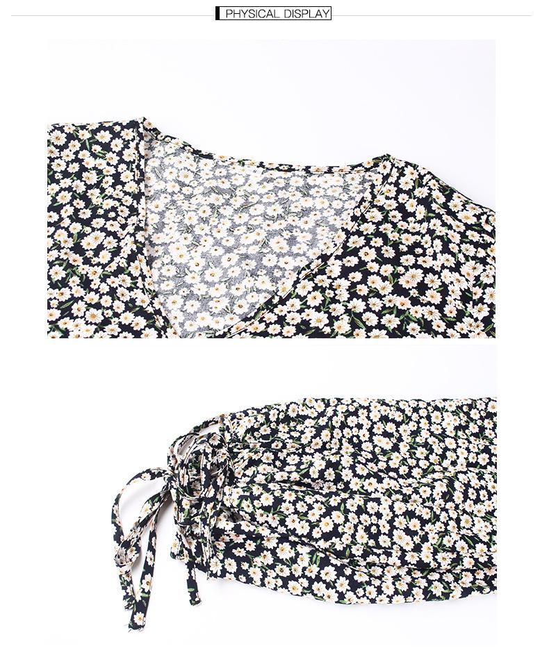 wholesale floral long-sleeved fresh dress NSKA1645