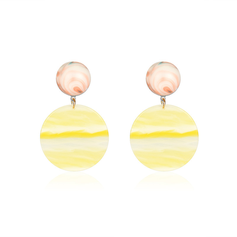 Womens Round Plating Alloy Earrings NHXS129889