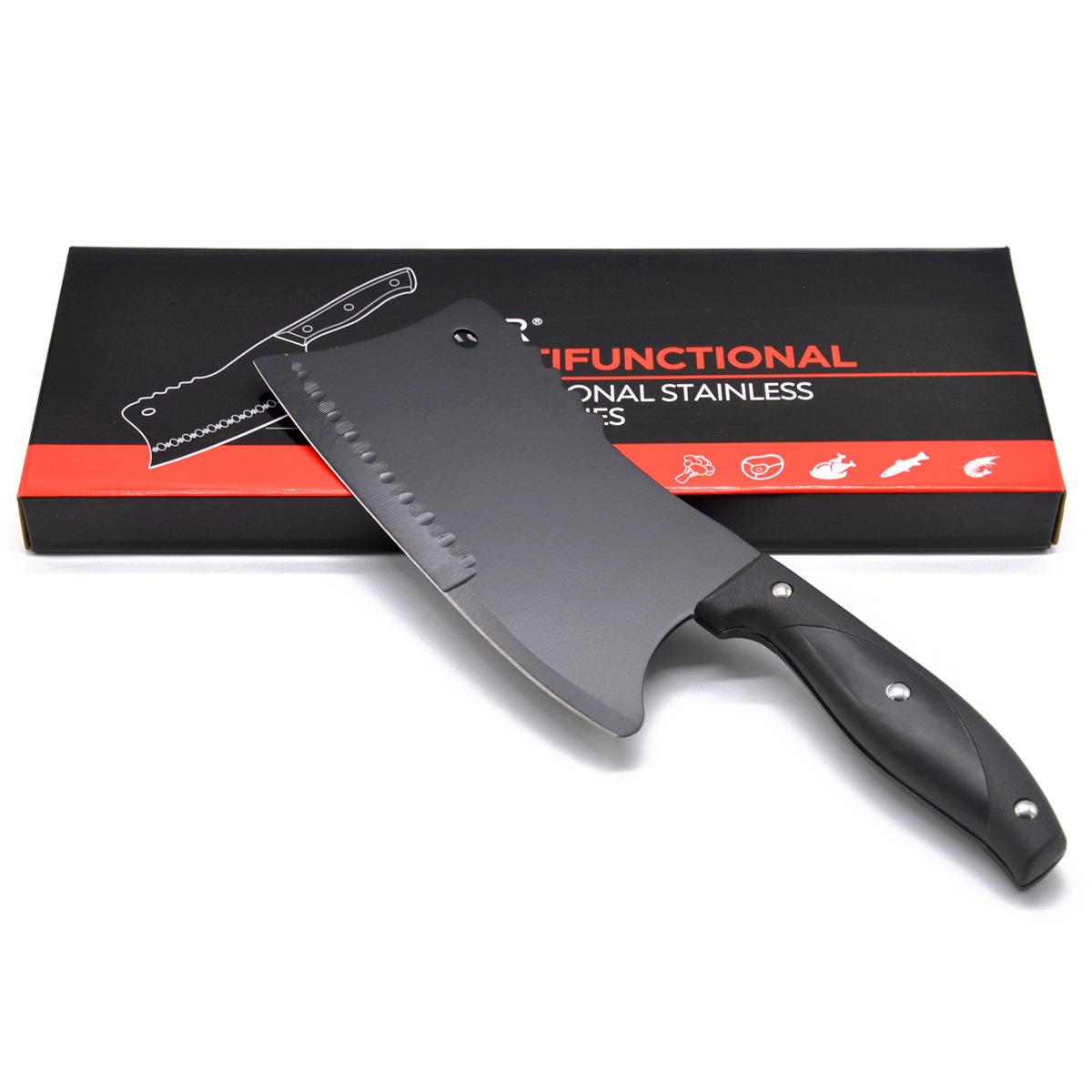 特价冰点刀 钨钢刀 黑钢刀 地摊跑江湖倒插会销可砍钢管的菜刀