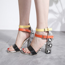 Women Sandals High heel Party Shoes Peep toe Size43 高跟凉鞋