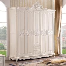 歐式實木衣柜五門雕花衣櫥法式時尚儲物大衣柜美式主臥室衣柜新款