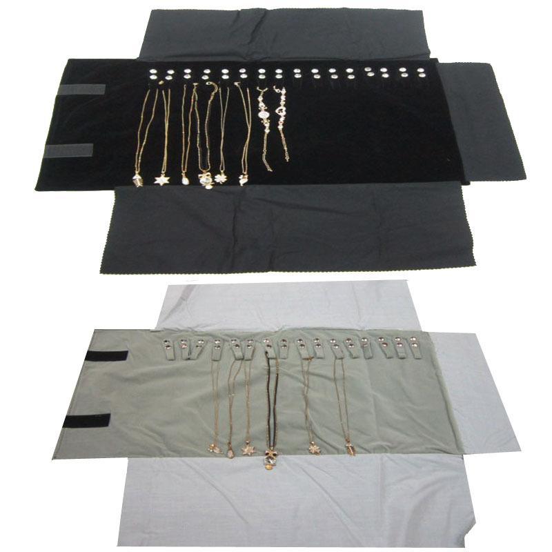 珠宝首饰收纳卷包项链手链旅行参展便携收纳袋饰品绒布参展展示袋