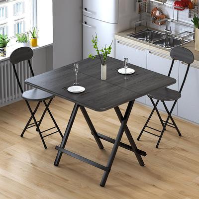 货源折叠桌子便携吃饭餐桌简易休闲桌电脑桌可对折手提桌摆摊方桌圆桌批发
