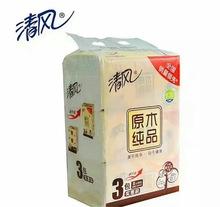 廠家價直銷 風清三連包超大容量雙層抽紙 商超 活動贈品飯店 批發