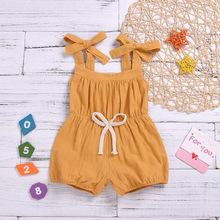 外贸专供童装系带连身衣婴幼儿服饰甜美女童厂家直销一件代发