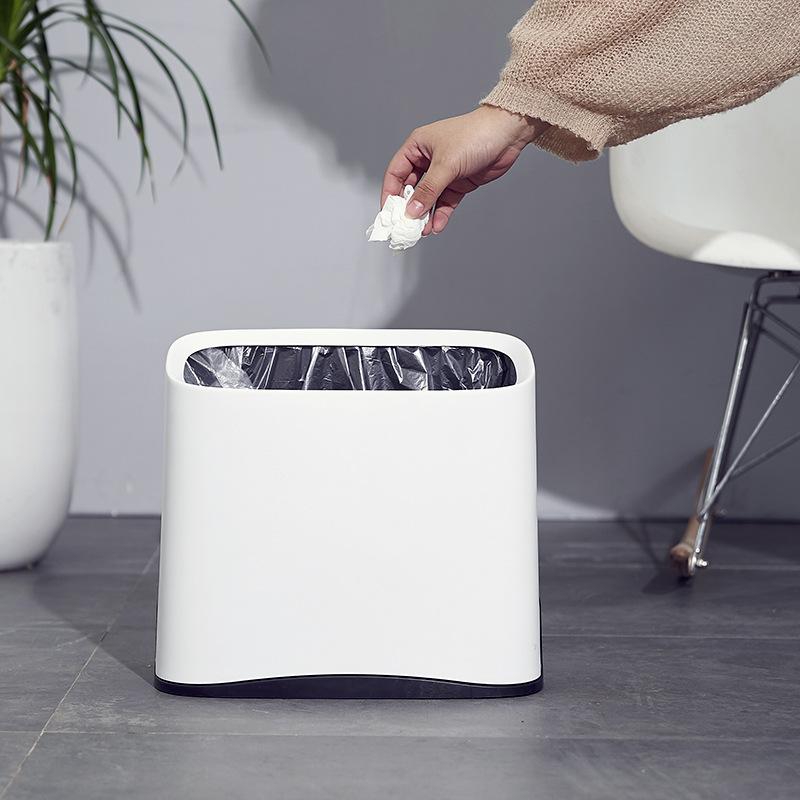 大号双层垃圾桶家用客厅厨房厕所卫生间纸篓创意窄夹缝塑料垃圾桶